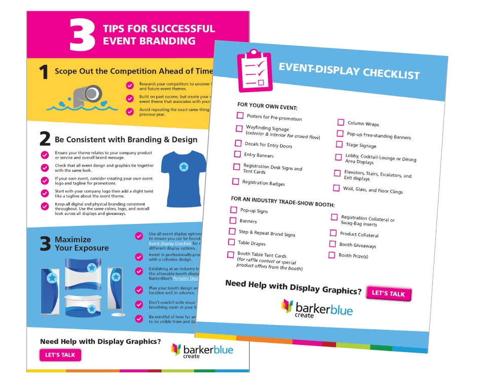 Event Display Tips & Checklist 2